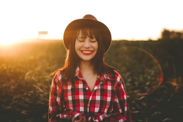 農家の女の子