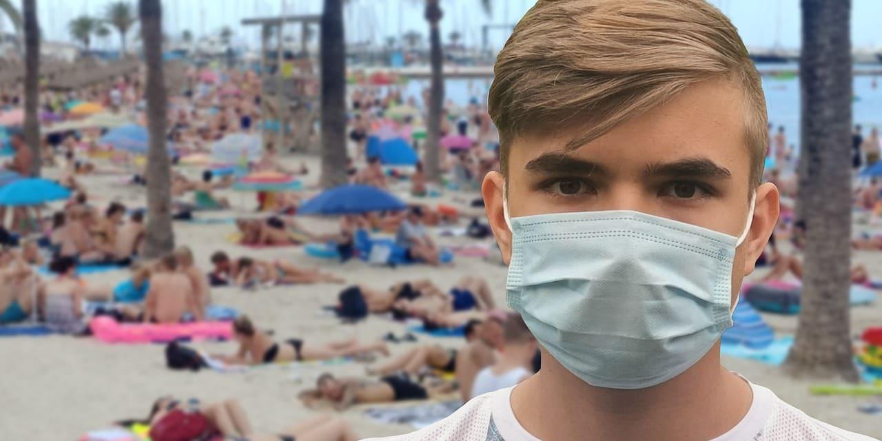 海辺のマスク